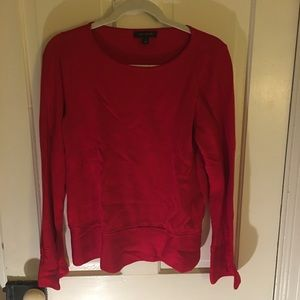 Ann Taylor red top with bell sleeves